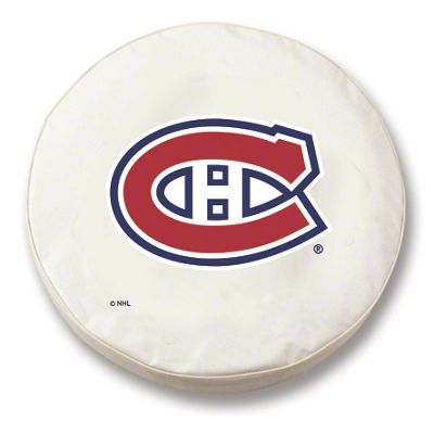 Montreal Canadiens Spare Tire Cover - White (87-18 Jeep Wrangler YJ, TJ, JK & JL)