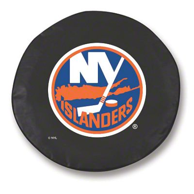 New York Islanders Spare Tire Cover - Black (87-18 Jeep Wrangler YJ, TJ, JK & JL)