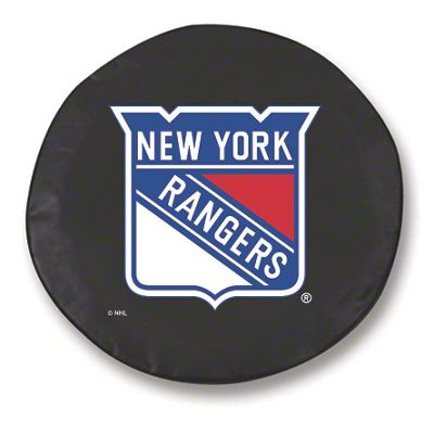 New York Rangers Spare Tire Cover - Black (87-18 Jeep Wrangler YJ, TJ, JK & JL)
