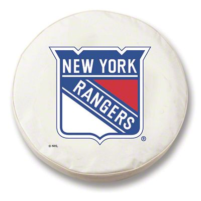 New York Rangers Spare Tire Cover - White (87-18 Jeep Wrangler YJ, TJ, JK & JL)