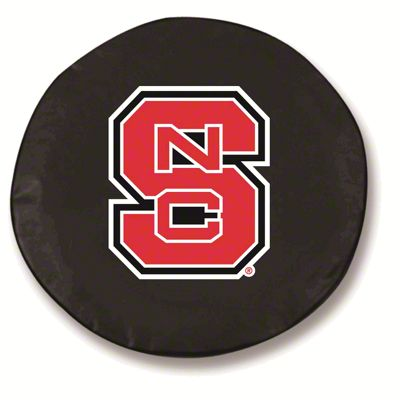 North Carolina State Spare Tire Cover - Black (87-18 Jeep Wrangler YJ, TJ, JK & JL)