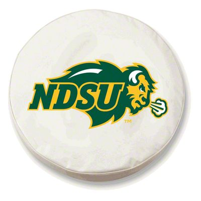 North Dakota State Spare Tire Cover - White (87-18 Jeep Wrangler YJ, TJ, JK & JL)