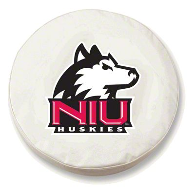 Northern Illinois University Spare Tire Cover - White (87-18 Jeep Wrangler YJ, TJ, JK & JL)