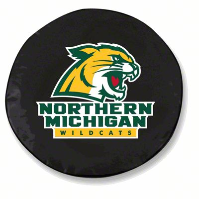 Northern Michigan University Spare Tire Cover - Black (87-18 Jeep Wrangler YJ, TJ, JK & JL)