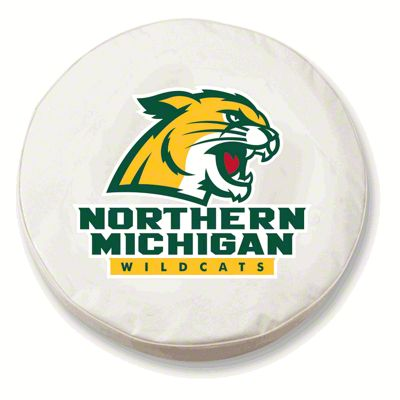 Northern Michigan University Spare Tire Cover - White (87-18 Jeep Wrangler YJ, TJ, JK & JL)