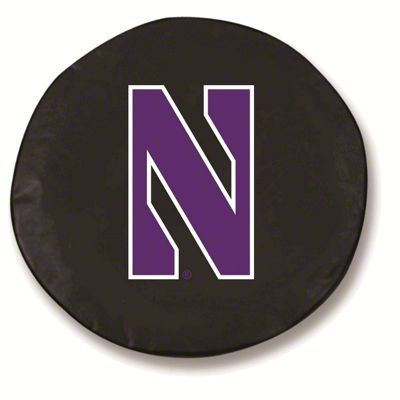 Northwestern University Spare Tire Cover - Black (87-18 Jeep Wrangler YJ, TJ, JK & JL)
