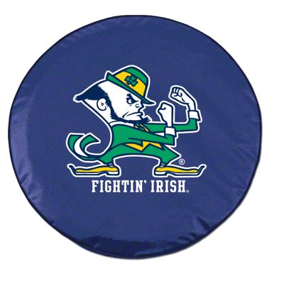 Fighting Irish Notre Dame Spare Tire Cover - Navy (87-18 Jeep Wrangler YJ, TJ, JK & JL)