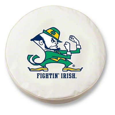 Fighting Irish Notre Dame Spare Tire Cover - White (87-18 Jeep Wrangler YJ, TJ, JK & JL)