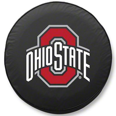Ohio State University Spare Tire Cover - Black (87-18 Jeep Wrangler YJ, TJ, JK & JL)