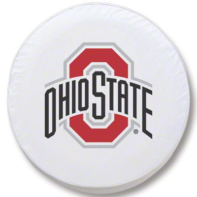 Ohio State University Spare Tire Cover - White (87-18 Jeep Wrangler YJ, TJ, JK & JL)