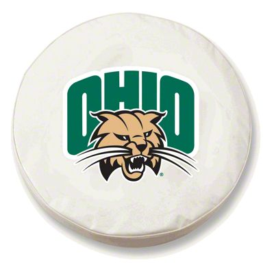 Ohio University Spare Tire Cover - White (87-18 Jeep Wrangler YJ, TJ, JK & JL)
