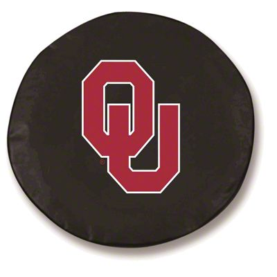 Oklahoma University Spare Tire Cover - Black (87-18 Jeep Wrangler YJ, TJ, JK & JL)