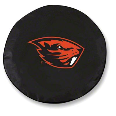 Oregon State University Spare Tire Cover - Black (87-18 Jeep Wrangler YJ, TJ, JK & JL)