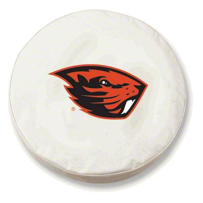 Oregon State University Spare Tire Cover - White (87-18 Jeep Wrangler YJ, TJ, JK & JL)
