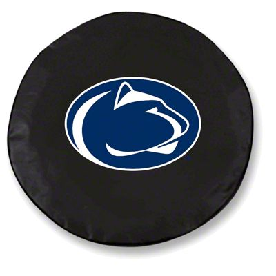Penn State University Spare Tire Cover - Black (87-18 Jeep Wrangler YJ, TJ, JK & JL)