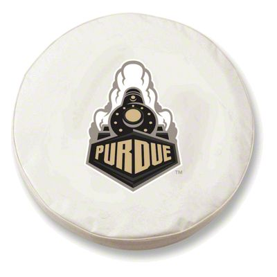 Purdue University Spare Tire Cover - White (87-18 Jeep Wrangler YJ, TJ, JK & JL)
