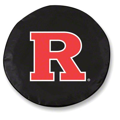Rutgers University Spare Tire Cover - Black (87-18 Jeep Wrangler YJ, TJ, JK & JL)