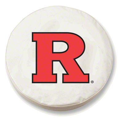Rutgers University Spare Tire Cover - White (87-18 Jeep Wrangler YJ, TJ, JK & JL)