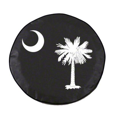 South Carolina State Flag Spare Tire Cover - White (87-18 Jeep Wrangler YJ, TJ, JK & JL)