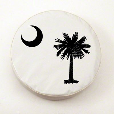 South Carolina State Flag Spare Tire Cover - Black (87-18 Jeep Wrangler YJ, TJ, JK & JL)