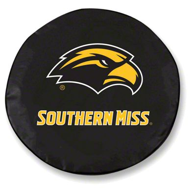 Southern Mississippi University Spare Tire Cover - Black (87-18 Jeep Wrangler YJ, TJ, JK & JL)