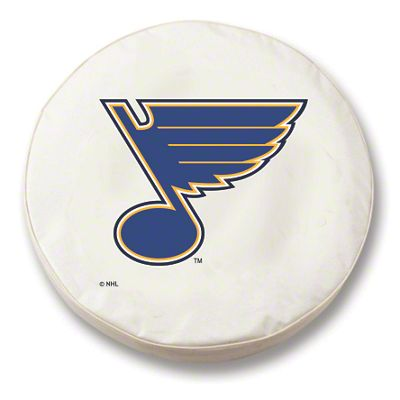 St. Louis Blues Spare Tire Cover - White (87-18 Jeep Wrangler YJ, TJ, JK & JL)