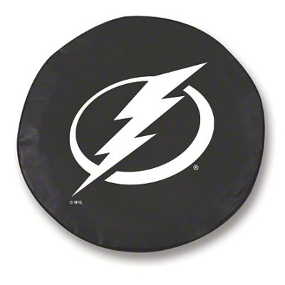 Tampa Bay Lightning Spare Tire Cover - Black (87-18 Jeep Wrangler YJ, TJ, JK & JL)