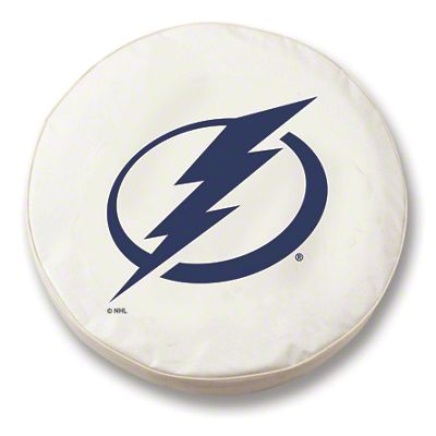 Tampa Bay Lightning Spare Tire Cover - White (87-18 Jeep Wrangler YJ, TJ, JK & JL)