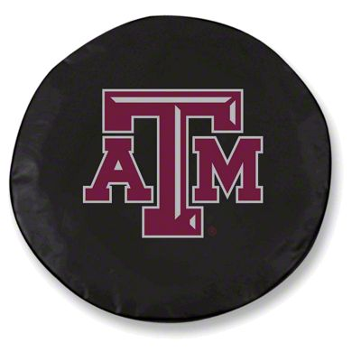 Texas A&M University Spare Tire Cover - Black (87-18 Jeep Wrangler YJ, TJ, JK & JL)