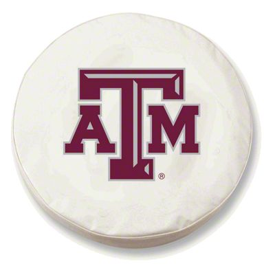 Texas A&M University Spare Tire Cover - White (87-18 Jeep Wrangler YJ, TJ, JK & JL)