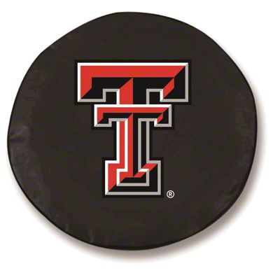 Texas Tech University Spare Tire Cover - Black (87-18 Jeep Wrangler YJ, TJ, JK & JL)