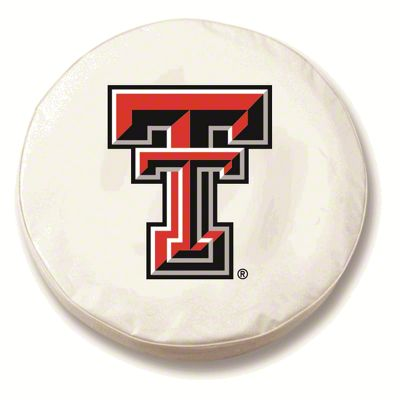Texas Tech University Spare Tire Cover - White (87-18 Jeep Wrangler YJ, TJ, JK & JL)