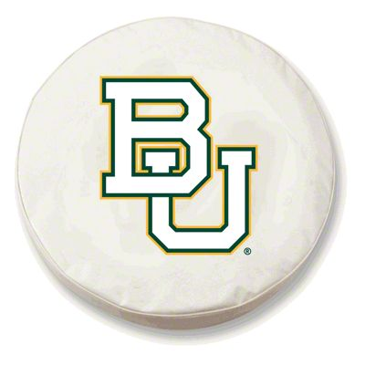 Baylor University Spare Tire Cover - White (87-18 Jeep Wrangler YJ, TJ, JK & JL)