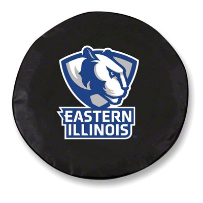 Eastern Illinois University Spare Tire Cover - Black (87-18 Jeep Wrangler YJ, TJ, JK & JL)