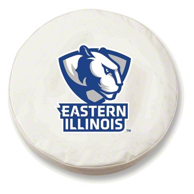 Eastern Illinois University Spare Tire Cover - White (87-18 Jeep Wrangler YJ, TJ, JK & JL)