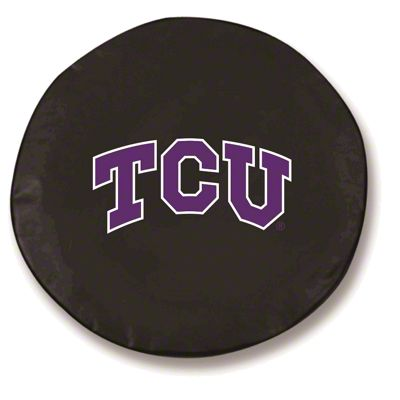 Texas Christian University Spare Tire Cover - Black (87-18 Jeep Wrangler YJ, TJ, JK & JL)
