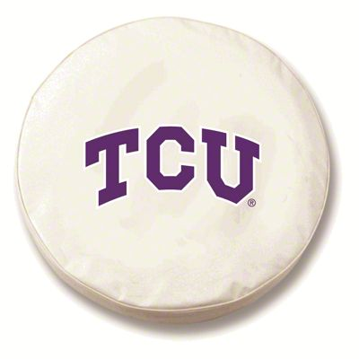 Texas Christian University Spare Tire Cover - White (87-18 Jeep Wrangler YJ, TJ, JK & JL)