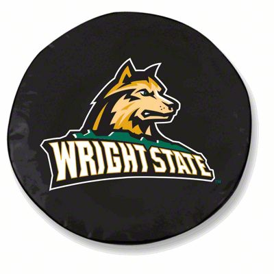 Wright State University Spare Tire Cover - Black (87-18 Jeep Wrangler YJ, TJ, JK & JL)