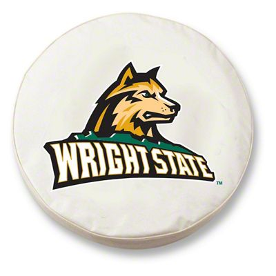 Wright State University Spare Tire Cover - White (87-18 Jeep Wrangler YJ, TJ, JK & JL)