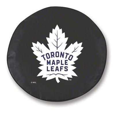 Toronto Maple Leafs Spare Tire Cover - Black (87-18 Jeep Wrangler YJ, TJ, JK & JL)
