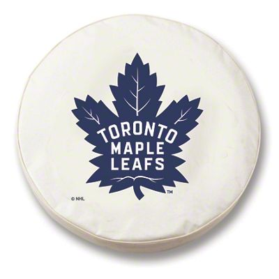 Toronto Maple Leafs Spare Tire Cover - White (87-18 Jeep Wrangler YJ, TJ, JK & JL)