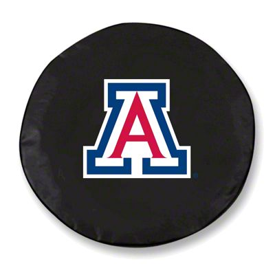 University of Arizona Spare Tire Cover - Black (87-18 Jeep Wrangler YJ, TJ, JK & JL)