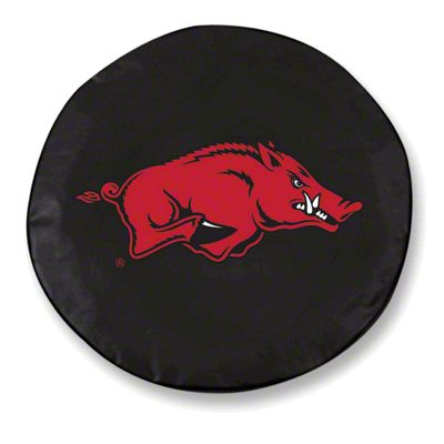 University of Arkansas Spare Tire Cover - Black (87-18 Jeep Wrangler YJ, TJ, JK & JL)