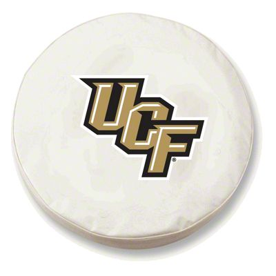 University of Central Florida Spare Tire Cover - White (87-18 Jeep Wrangler YJ, TJ, JK & JL)