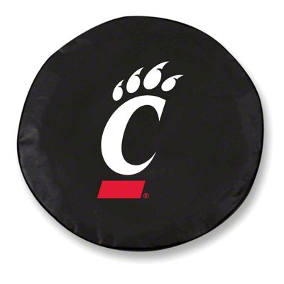 University of Cincinnati Spare Tire Cover - Black (87-18 Jeep Wrangler YJ, TJ, JK & JL)