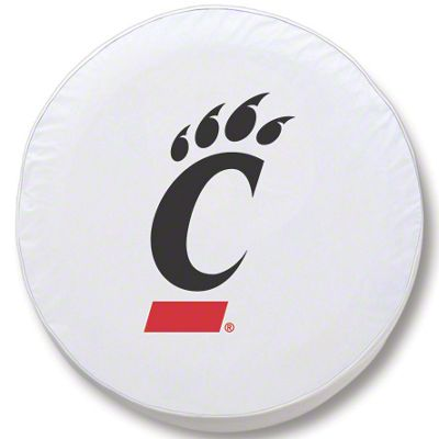 University of Cincinnati Spare Tire Cover - White (87-18 Jeep Wrangler YJ, TJ, JK & JL)