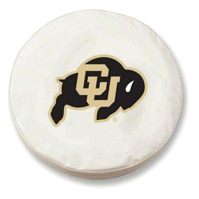 University of Colorado Spare Tire Cover - White (87-18 Jeep Wrangler YJ, TJ, JK & JL)