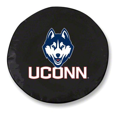 University of Connecticut Spare Tire Cover - Black (87-18 Jeep Wrangler YJ, TJ, JK & JL)
