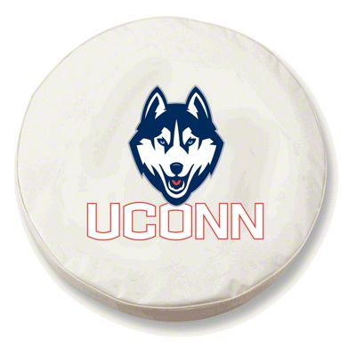 University of Connecticut Spare Tire Cover - White (87-18 Jeep Wrangler YJ, TJ, JK & JL)