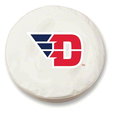 University of Dayton Spare Tire Cover - White (87-18 Jeep Wrangler YJ, TJ, JK & JL)